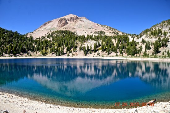 Shingletown, CA: Lassen Peak with Lake Helen in Foreground