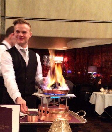 The Savoy Grill : Sour Cherries Flambé