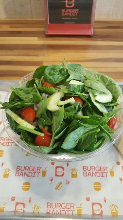 Lynbrook, NY: Great salad today from one of my favorite burger places Burger Bandit