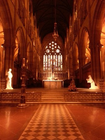 Inside of St. Mary's Cathedral...