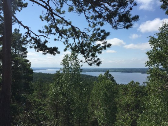 Stone Castle of Pirunvuori: Views from Pirunvuori towards the lake