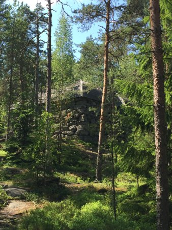 Stone Castle of Pirunvuori: Stone castle built by artist Danielson over 100 years ago