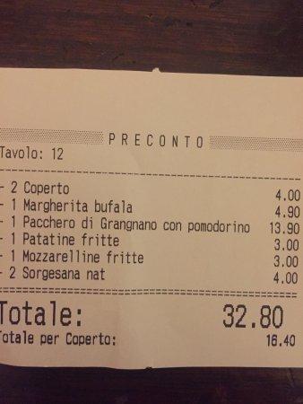 Casapulla, อิตาลี: preconto