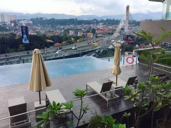 pool view dari balkon kamar picture of grandia hotel bandung rh tripadvisor in