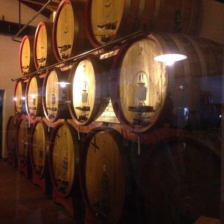 Veneto Italy and Wine: The Barrel room