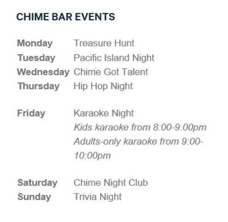 Chime: Weekly Program
