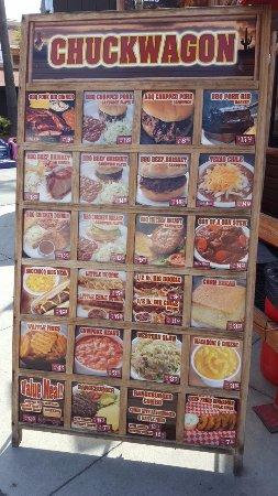 Pomona, Kalifornien: Chuckwagon Menu