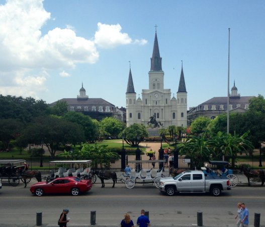 St. Louis Cathedral: View from across the street.