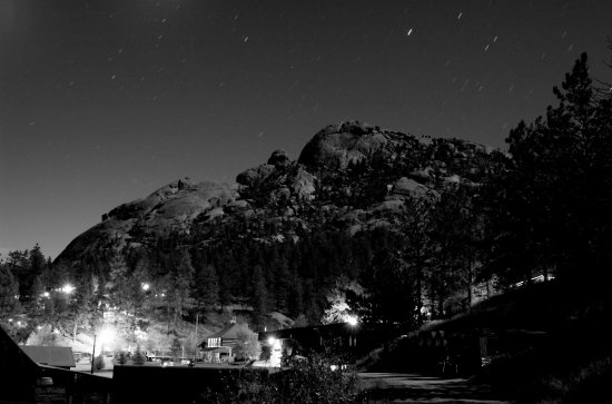 Sedalia, CO: Sheep Rock at Night