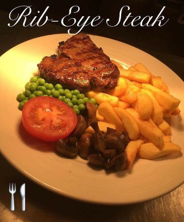 Cambuslang, UK: Tasty Rib-Eye steak