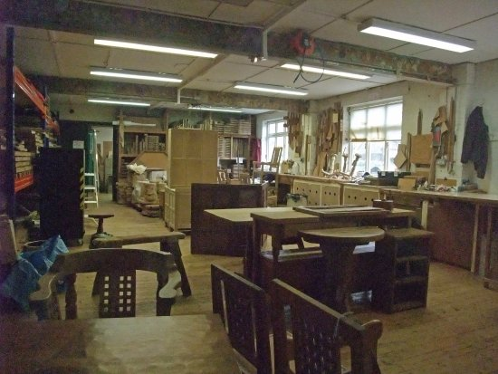 Kilburn, UK: Mouseman - Workshop Interior