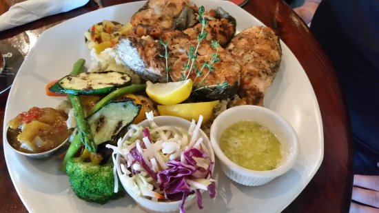 Riptide Marine Pub : Hook & Catch our salmon Joe prepared was awesome. Coleslaw was very good