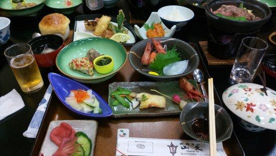 Oyado Yamakyu: Dinner set