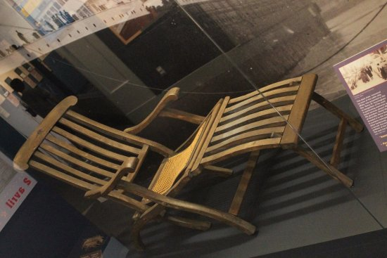 Maritime Museum of the Atlantic Titanic deck chair & Titanic deck chair - Picture of Maritime Museum of the Atlantic ...