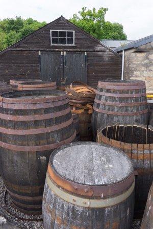 Alness, UK: Old barrels