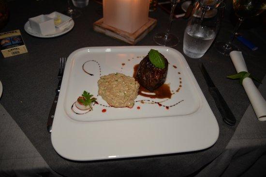 20 Degres Sud Restaurant: Filet de boeuf d'Australie grillé, risotto