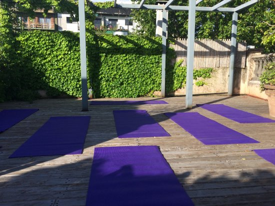 L'Hotel Palermo allowed us to host a yoga class on their rooftop!