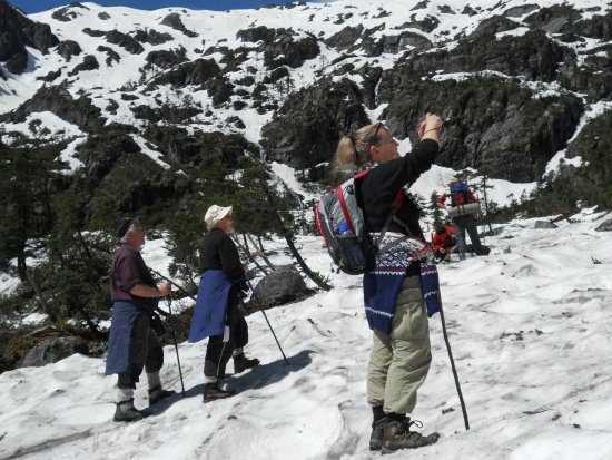 Lanping County, China: before the pass about 3900m sea level, trekking Biluo snow mountain.