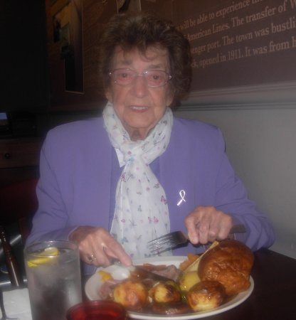 The White Swan: Mum with her carvery meal