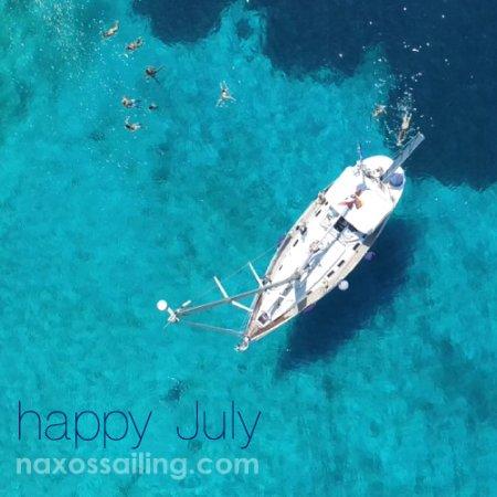 Naxos Sailing Tours: Happy July