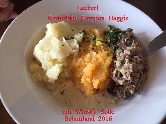 Appin, UK: Lecker Haggis in Creagan Inn