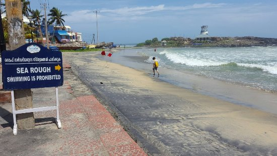 Lighthouse Beach: Kovalam during Monsoon