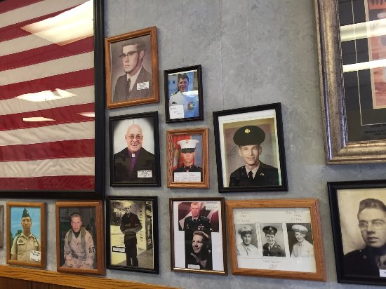 Jenell's Main Dish: Display of local veterans