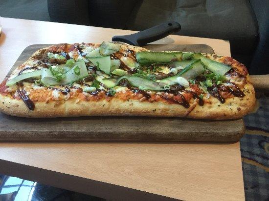 Bolton, UK: Duck & Hoisin sauce Pizza