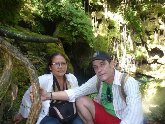Parque natural Rancho Querete: Con mi esposa Liuva Naupay, Rancho Querete, Sancti Spiritus, Cuba
