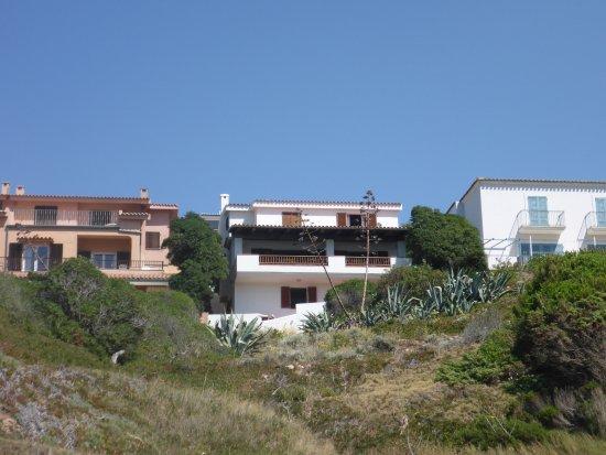 Blick vom Strand auf B&B La Terrazza di Lilly