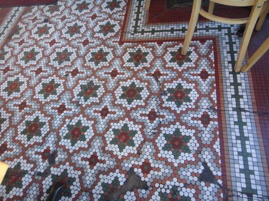 Collegetown Bagels: The floor is so pretty