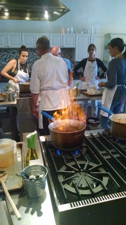Cooking class in session at Tspoons in San Juan Capistrano, CA