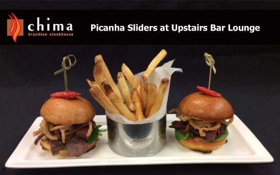 Chima Brazilian Steakhouse: Picanha Sliders Upstairs Bar Lounge
