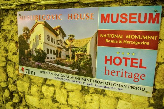 Bosnian National Monument Muslibegovic House Hotel: Poster
