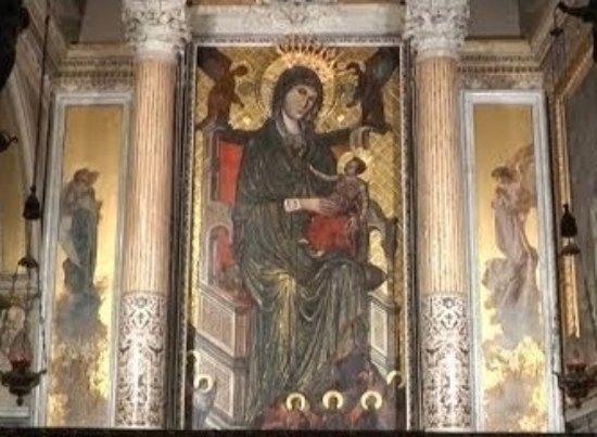 Mercogliano, Olaszország: Quadro raffigurante la Madonna di Montevergine