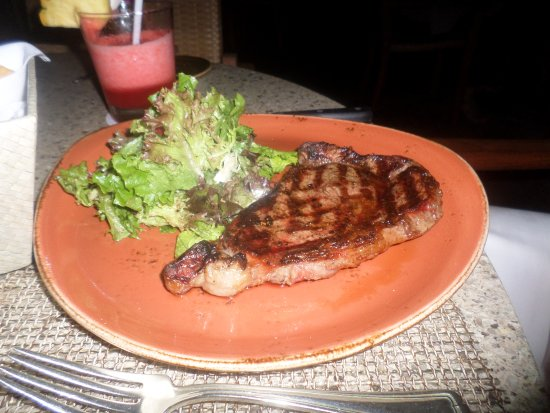 House Without a Key: Perfectly cooked steak