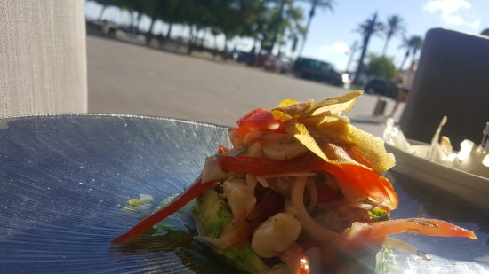 Greys Sitges: ceviche seabass and prawn