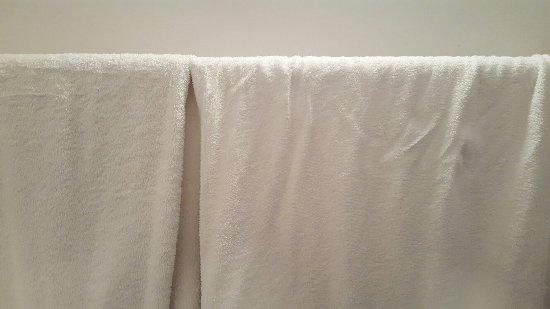 أنتيك بالاس هوتل آند سبا: Hole in pillowcase, old threadbare towels, old re-hung towels.