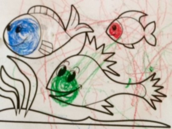 Danville, Californien: Drawing by 18-month old