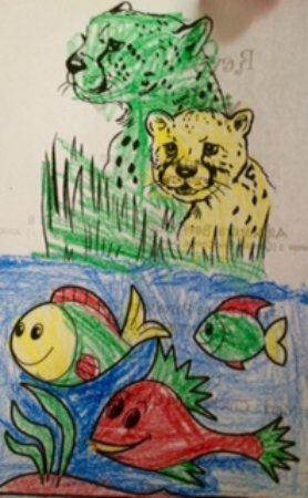 Danville, Californien: Drawing by 6 1/2 year old