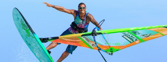 Bonaire, home of champion windsurfers like Taty Frans