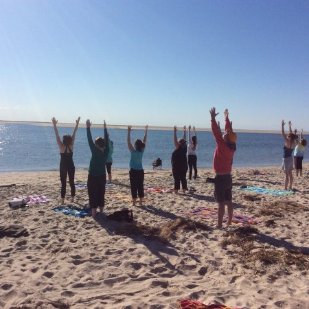 Chatham Lighthouse Beach Yoga: Best way to start the day!