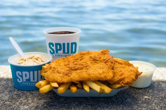 Spud Fish & Chips: fresh from the water fish and chips!