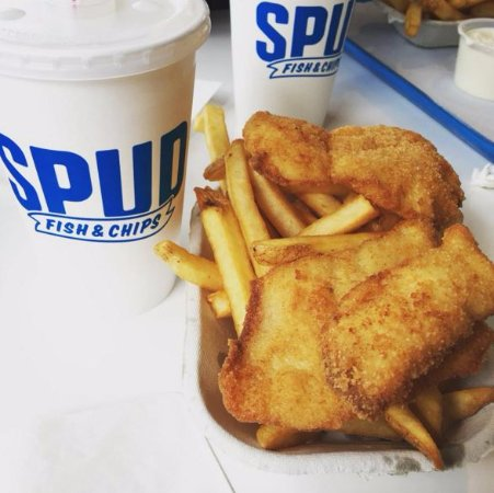 Spud Fish & Chips: double order