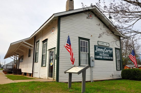 Plains, GA: The old train depot that was transformed into Campaign Headquarters for Jimmy Carter.