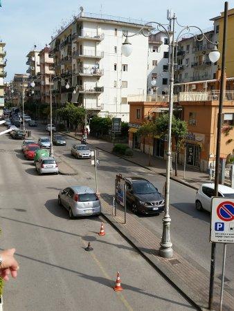 Albergo Fiorenza: The cones indicate the offload area