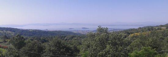 Lisciano Niccone, Italien: Panorama dalla località dell'hotel