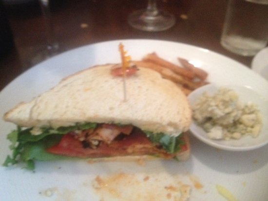 Odessa, DE: Salmon BLT with the crumbled blue cheese (dressing substitute)