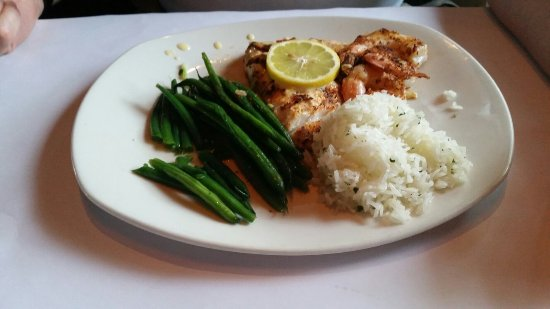 Bonefish Grill: Two dinner special: Bang Bang Shrimp, grouper & shrimp & wild caught salmon