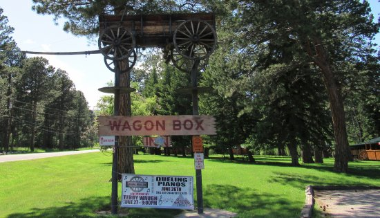 The Wagon Box is nestled in the trees of Story Wyoming